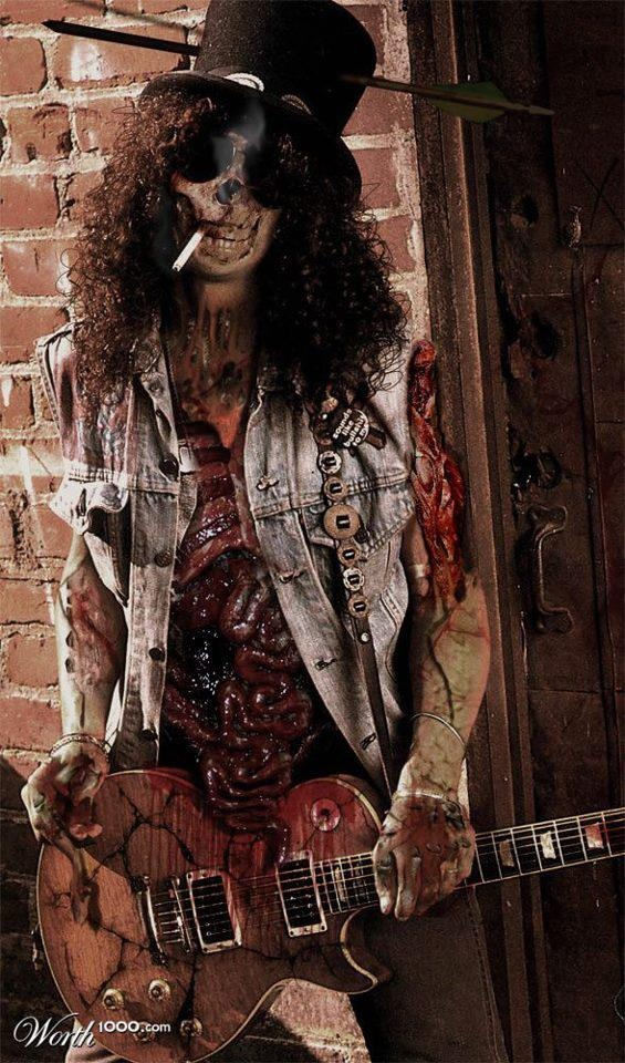 zombie slash tattoo design bild