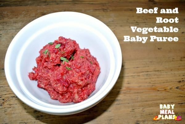 Beef and Root Vegetable Baby Puree | Recipe