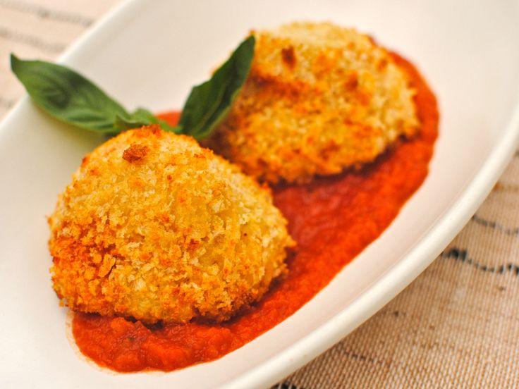 baked arancini balls | Potato/Rice/starches | Pinterest