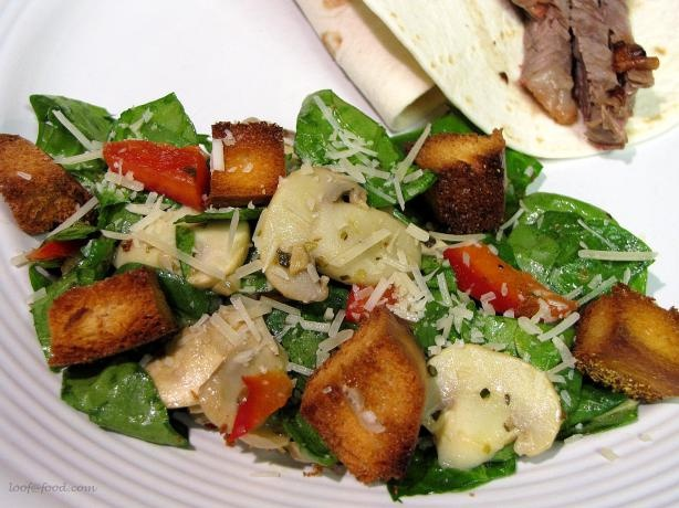 Warm Spinach And Mushroom Salad Recipe — Dishmaps