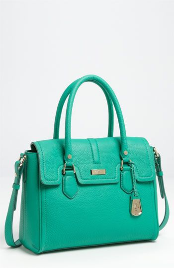 A snappy satchel in a fun color.