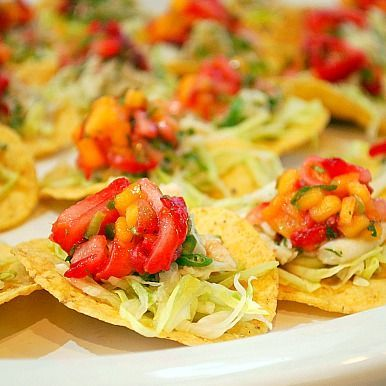 Crab Tostadas with Strawberry & Mango Salsa #CAStrawberriesPIN2WIN