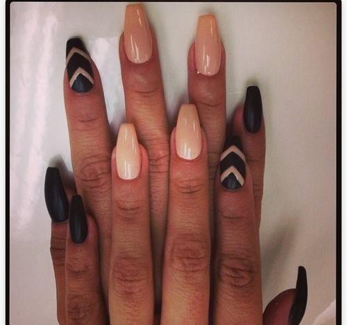Форма балерина ногти