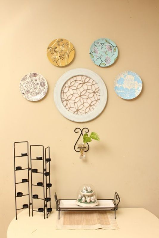 Diy Paper Plates Wall Decor: Recycled diy diya candle decoration ...