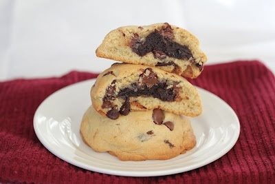 Brownie stuffed chocolate chip cookies. | Food and Drink | Pinterest