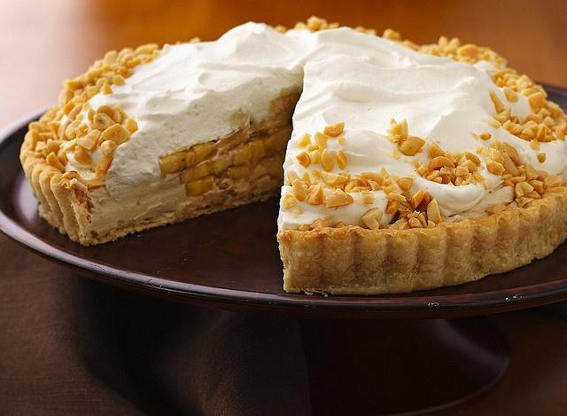 Banana-Peanut Butter Cream Tart | Recipes to Try - Bananas | Pinterest