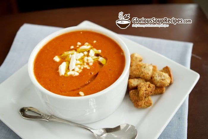 Roasted Red Pepper Soup Recipe | Yummy food & recipes | Pinterest