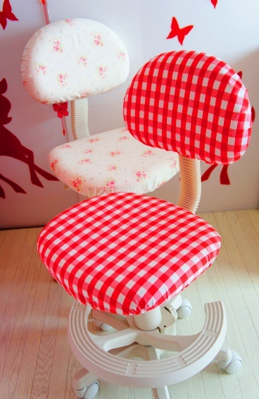 Office chair covers tutorial but the tutorial is not in english love