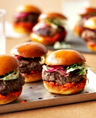 mmm mini fire grilled bite sized burgers | Red Meats | Pinterest