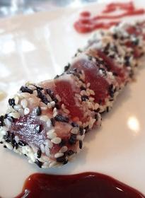 Scrumpdillyicious: Sesame Seared Ahi Tuna with Ginger & Wasabi