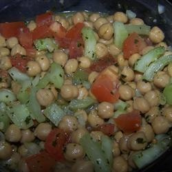 Chickpea Salad With Red Onion And Tomato Recipe — Dishmaps