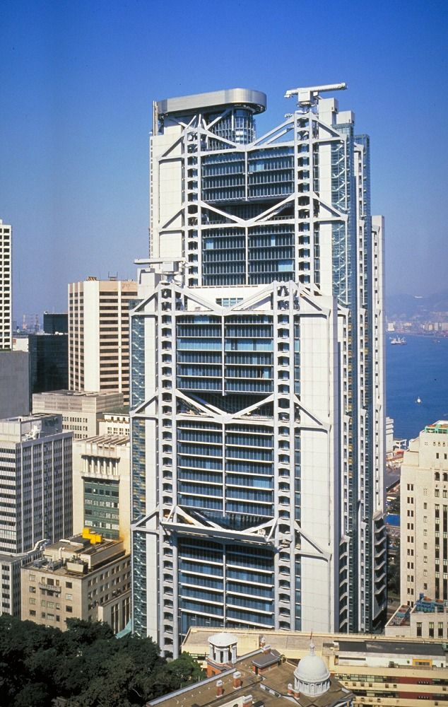Hsbc building by norman foster architecture pinterest for Architecture high tech