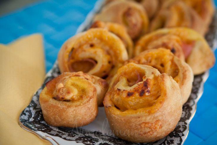 Ham & Cheese Appetizer Pinwheels | recipes | Pinterest