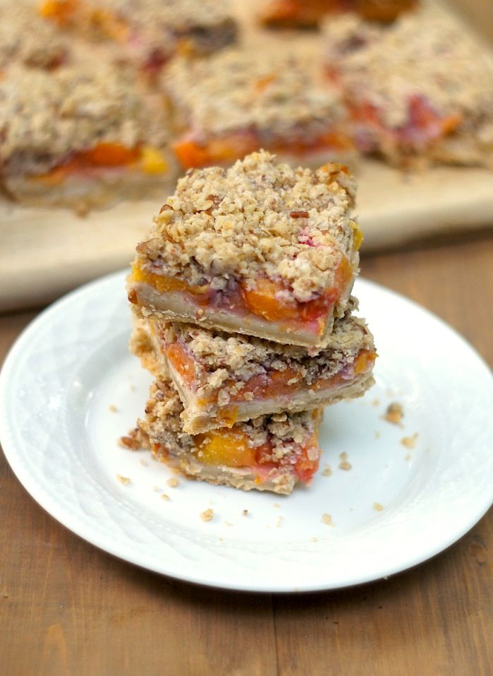 Peach + Pecan Oat Crumble Bars | fearless homemaker creations | Pinte ...