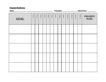 Iep goal tracking sheet template pronofoot35fo Images