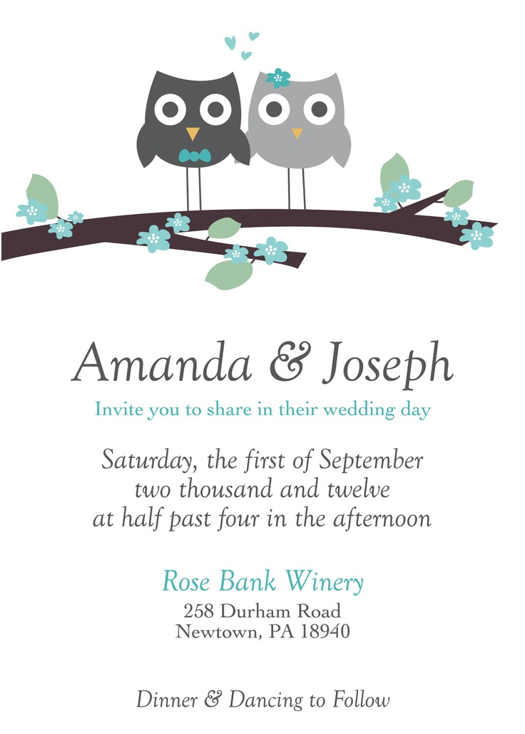 Owl Wedding Invitations correctly perfect ideas for your invitation layout