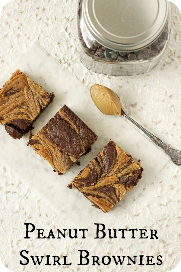 peanut butter swirl brownies | Food | Pinterest