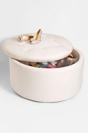 Ottoman Shoe Storage- Brilliant | Organize your shoes | Pinterest