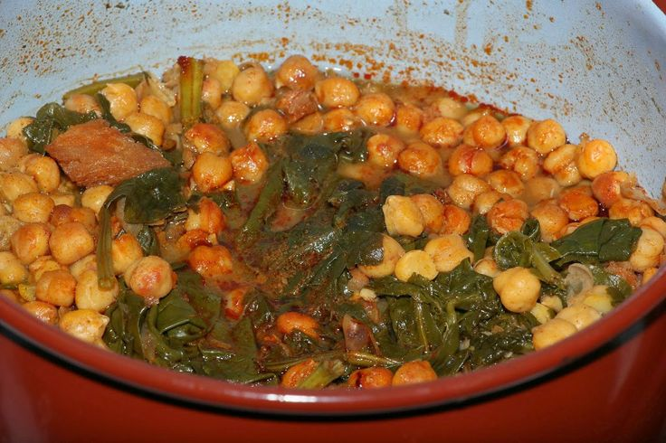 Gerry's Dishes: Espinacas con garbanzos, garbanzo stew with spinach ...