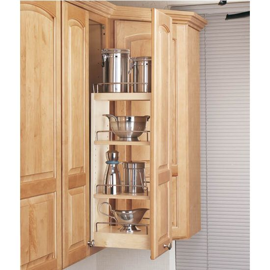 kitchen upper cabinet pull out organizer kitchensource pinterest