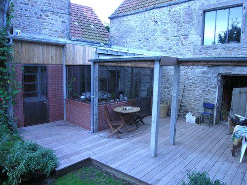 Terrasse beton imitation bois deco diverses for Terrasse bois flotte