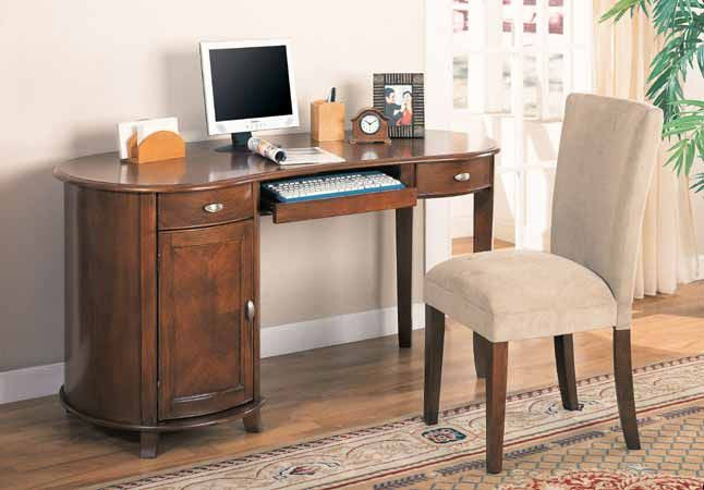 Computer Desk with 2 Drawers - Desk & Chair Home Office - - Catalog