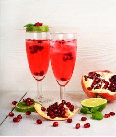 RECIPE] Pomegranate Mint Spritz Salud Cocktail - Altaneve Prosecco