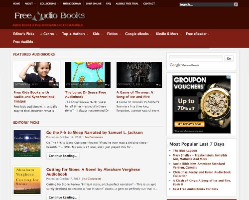 Websites For Free Audio Books - Technology