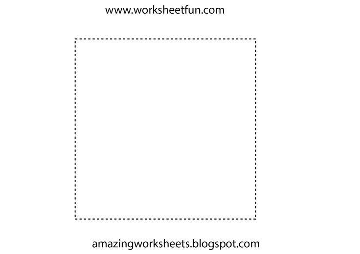 square tracing summer worksheets pinterest. Black Bedroom Furniture Sets. Home Design Ideas