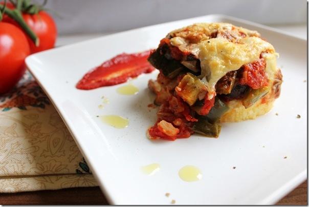 Roasted Vegetable Polenta & Quinoa Pie | Healthy Eating | Pinterest