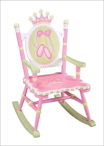 ballet chair ballet shoes swan lake hand painted rocking chair free ...