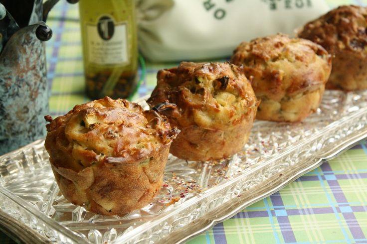 Muffin à la Courgette, Pancetta,Parmesan et Origan