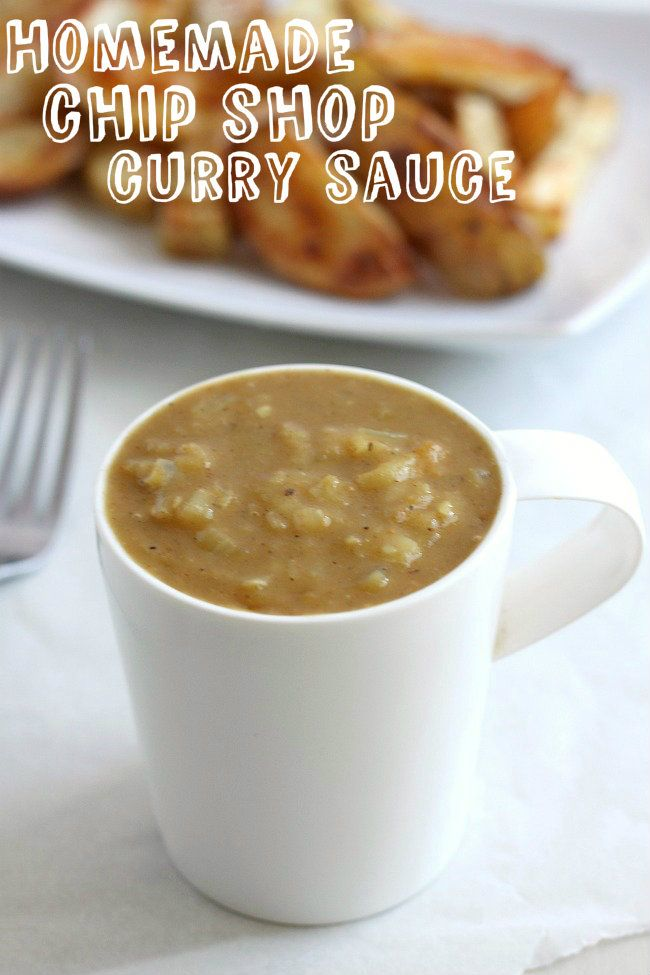 Homemade chip shop curry sauce! Fish and chips are just not the same ...