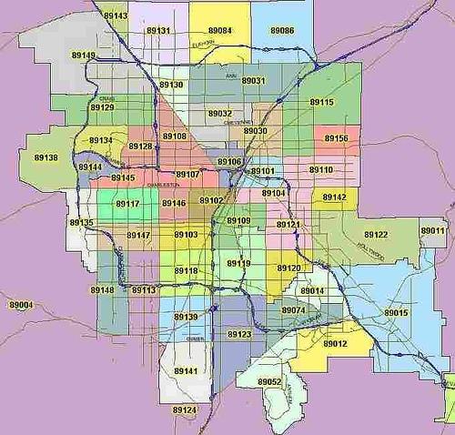 Las Vegas Zip Code Map  Las Vegas Nevada  Pinterest