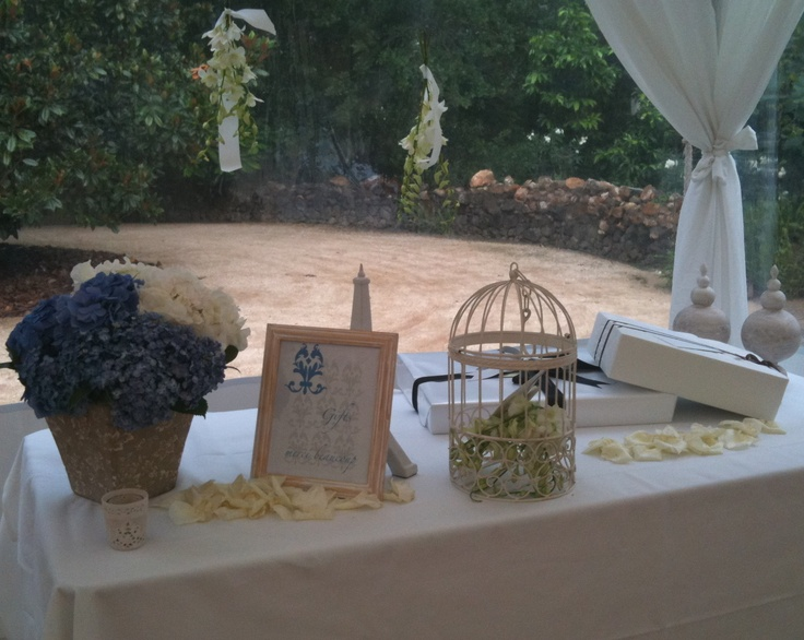 Simple gift table by Divinity Weddings wedding Pinterest