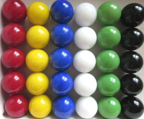 Colored Marbles For Games : New solid color replacement marbles wahoo aggravation