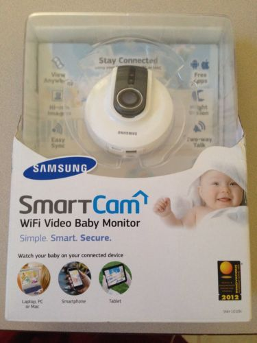 samsung smartcam wifi baby monitor w night vision 2 way talk and smar. Black Bedroom Furniture Sets. Home Design Ideas