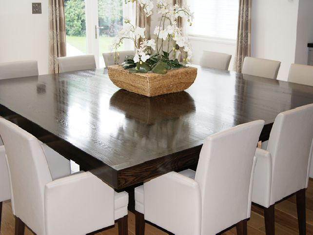 Dining room table for 12 people our new home pinterest for 10 person square dining table