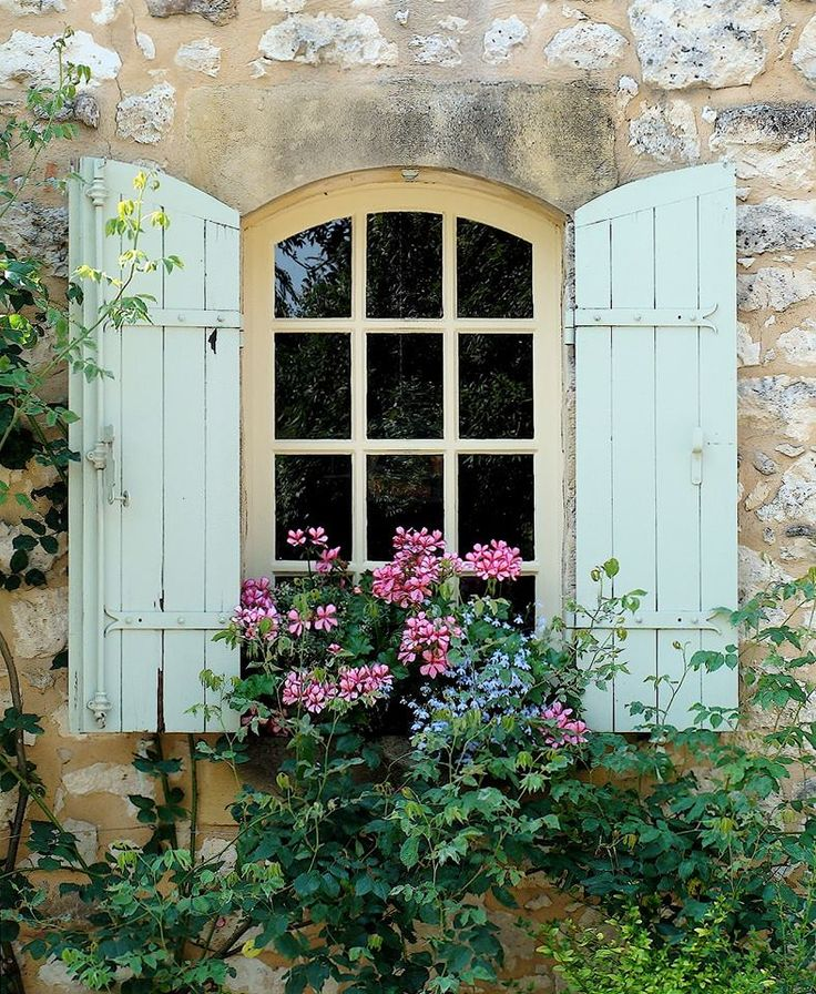 Photo Courtesy Of French Country Garden Pretty Windows