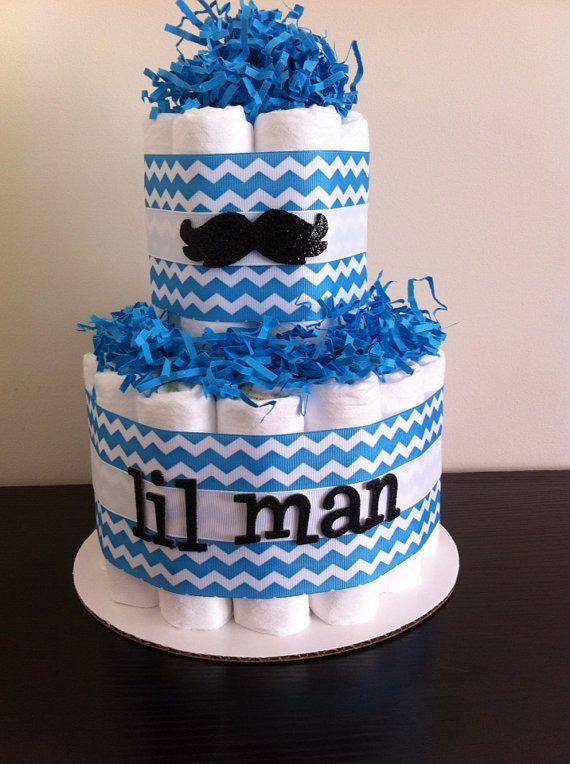 cake boy lil man moustache baby shower baby shower centerpiece