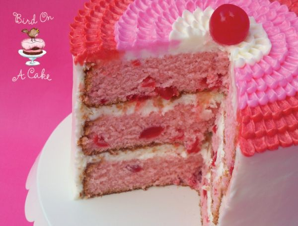 Cherry Almond Valentine Cake | Let Them Eat...CAKE!! | Pinterest