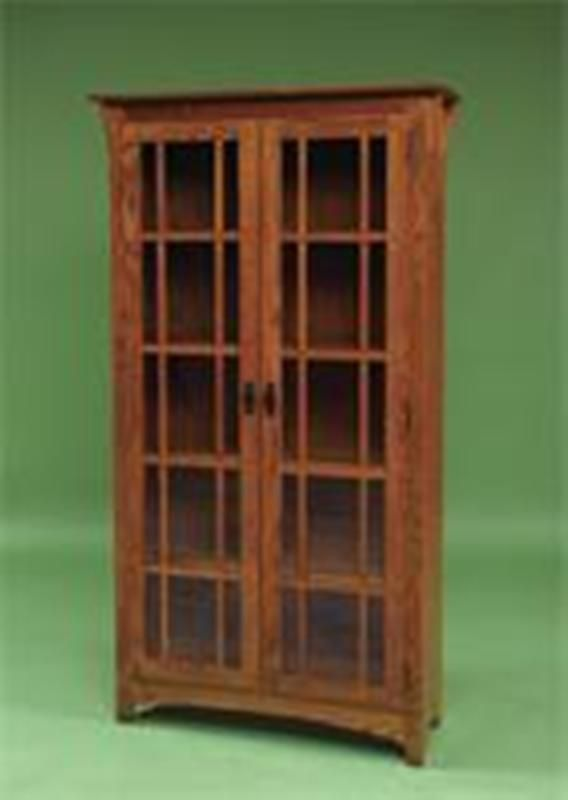 Craftsman style bookcase office spaces pinterest for Craftsman style bookcase plans