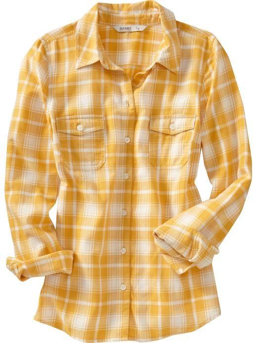 Old navy women 39 s plaid flannel shirts style pinterest for Women s stewart plaid shirt