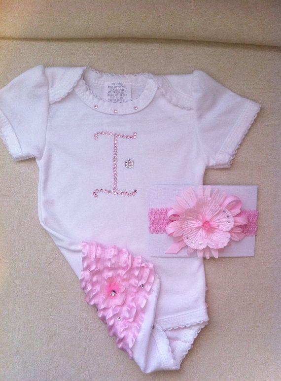 Baby Bling Monogrammed Baby Clothes Newborn Swarovski