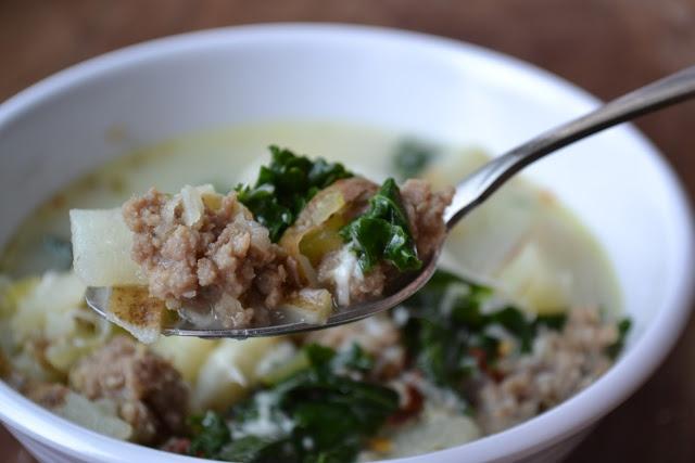 Sausage Potato And Kale Soup Recipe Dishmaps