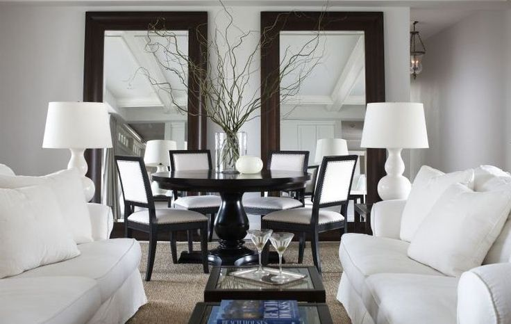 Floor mirrors in the dining room dining room pinterest for Floor mirror in living room