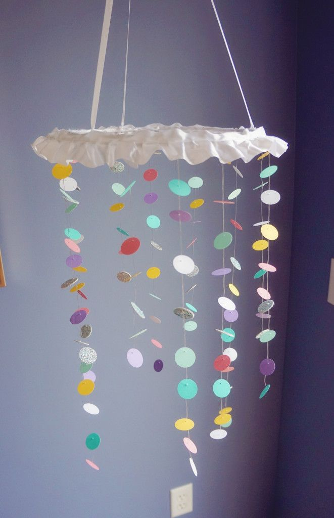 DIY Nursery Mobile - love the ruffle! #DIY #nursery