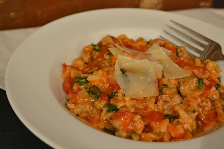 Tomato and Sausage Risotto! | EAT | Pinterest