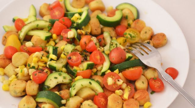 gnocchi w/summer vegetables | food [Italian,pasta] | Pinterest