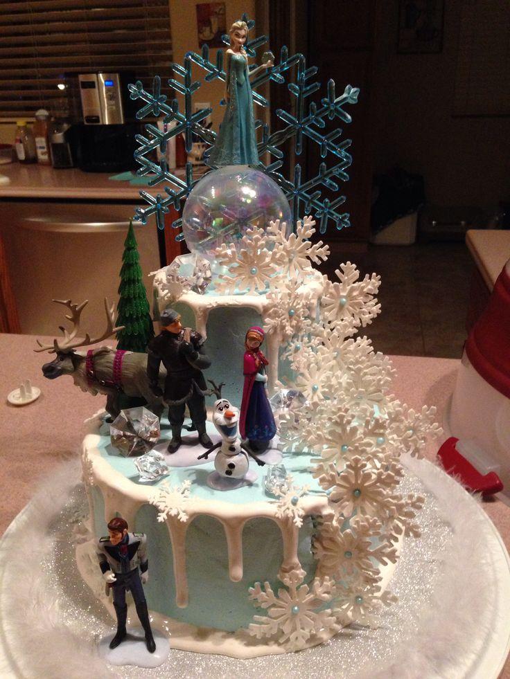 Disney Frozen Cake with Lights